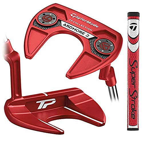 TaylorMade Golf Tour Preferred Red Collection Ardmore 2 #1 Super Stroke 35 IN Putter, Right Hand