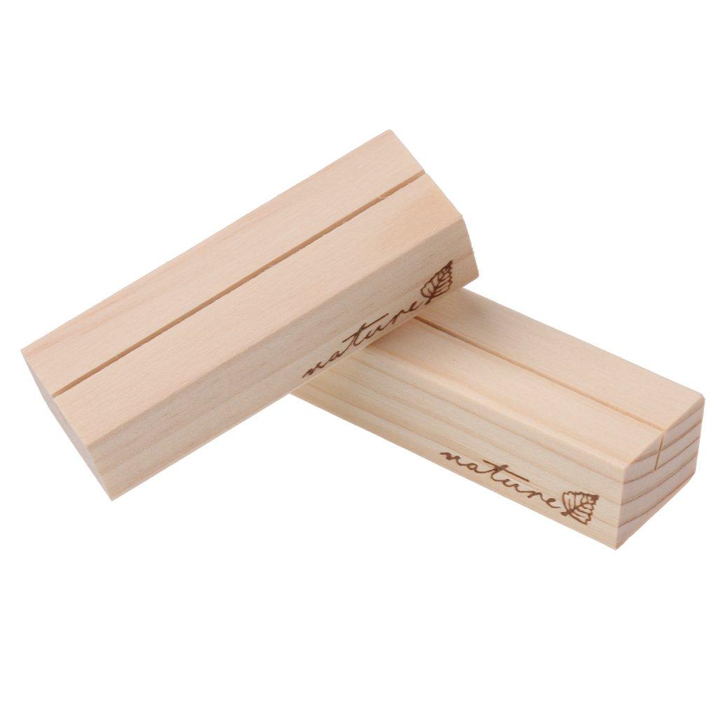 Sharplace 5 x Holz Platzkartenhalter Kartenhalter Platzkarte Fotohalter Namensschild Hochzeit Tischdeko Kr/äftiges Holz 7 x 2,3 x 1,7cm