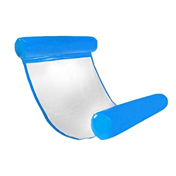 CampHiking® Hamaca flotante para piscina, hinchable, compacta, portátil, para adultos y niños con bomba pequeña
