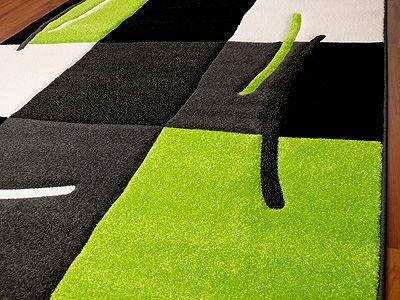Teppich grün weiß  Teppich Paradiso Schwarz Grün Karo: Amazon.de: Küche & Haushalt