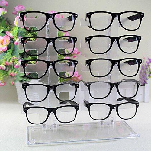 Sunglasses Rack Charminer 10 Pair Acrylic Clear Sunglasses Glasses Display Rack Counter Show Stand - Racks Display Sunglasses