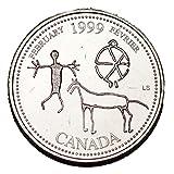 Canada 1999 February 25 cents UNC Millenium Series Canadian Quarter