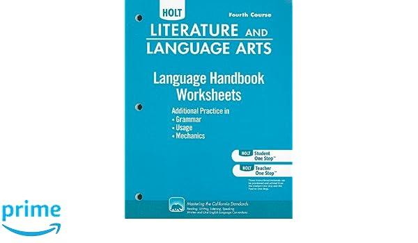 Holt Literature and Language Arts California: Language Handbook ...