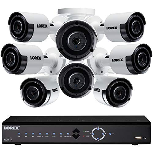 - Lorex 16 Channel, 4K NVR Security System, 3TB,8 Night Vision Color Camera