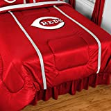 "Cincinnati Reds MLB ""Side Lines"" Collection Bed Comforter"