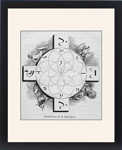 Framed Print Of Rosicrucian Symbol by Prints Prints Prints