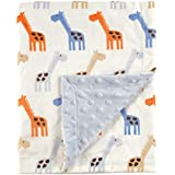 Hudson Baby Printed Mink Blanket with Dotted Backing...