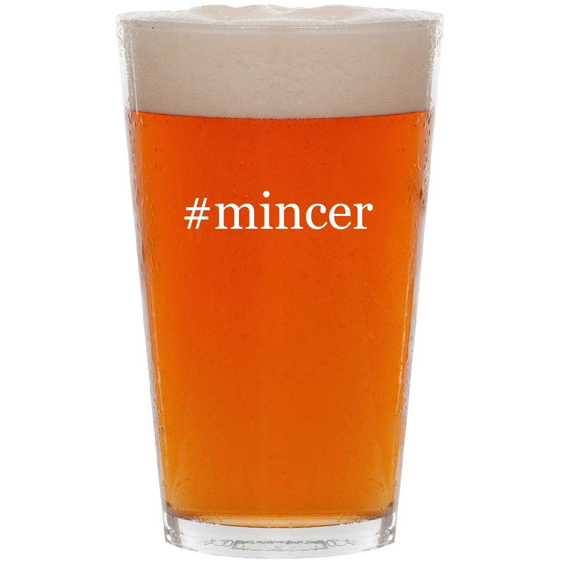 #mincer - 16oz Hashtag Pint Beer Glass