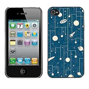 Jordan Colourful Shop - Space Kids Children'S Amazing Retro For iPhone 4 / 4S Personalizado negro cubierta de la caja de pl????stico