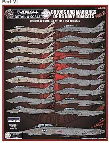 (Furball Decals 1/48 Scale Decals USN VF-154 F-14 Tomcats Colors & Markings Pt.VI - FDS4814)