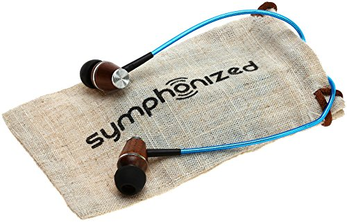 Symphonized XTC 2.0 Premium Genuine Wood In-ear Noise-isolating Headphones|Earbuds|Earphones with Innovative Shield Technology Cable and Mic (Electric Blue)
