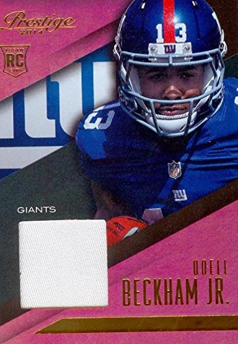 Odell Beckham Jr. player worn jersey patch football card (New York  free shipping
