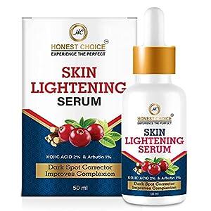 HONEST CHOICE Skin lightening Serum for Pigmentaion & Dark Spot with Kojic Acid & Alpha Arbutain (50 ml)