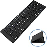 Macally Universal Foldable Bluetooth Keyboard | Portable Folding and Wireless | Works with Apple iPhone/iPad iOS, Android Tablets & Smartphones, Windows Laptop Computers, Smart TVs, etc.