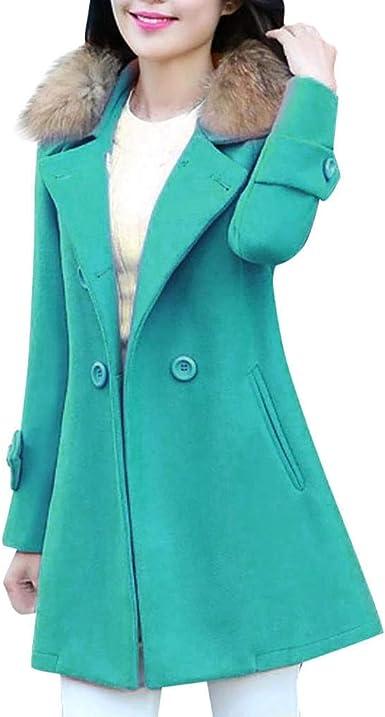 Hot 2018 Autumn Winter Wool Women Plus Size Lapel Pocket Long-Sleeved Casual Coat