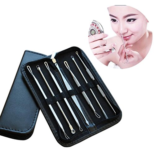 LtrottedJ Blackhead Whitehead Facial Acne Spot Pimple Remover Extractor Tool Kit