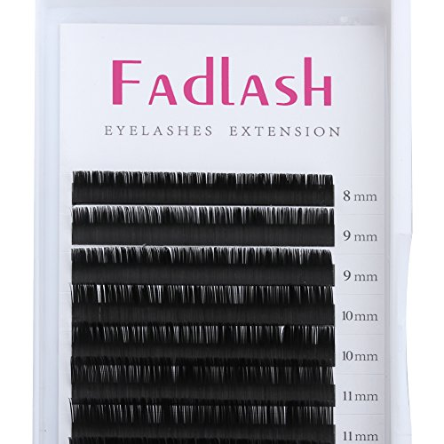 D Curl Eyelash Extensions 0.15mm 8-14mm Mixed Tray Silk Volume Lash Extensions Supplies Synthetic Individual Lashes Semi-permanent Eyelashes Professional Salon Use by FADLASH