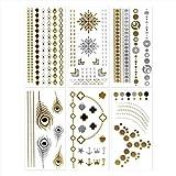 Temporary Metallic Jewelry Tattoos #7~12 by DEJA-TU