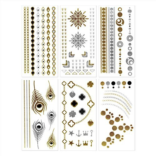 Temporary Metallic Jewelry Tattoos #7~12 by DEJA-TU by DEJA-TU (Image #1)