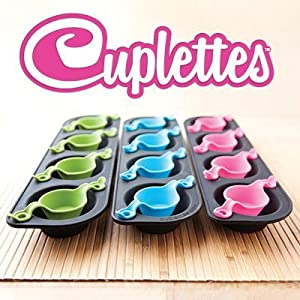 The Smart Baker® Cuplettes Cupcake Pans with Free Recipe Book (Original - 12 Cuplettes)