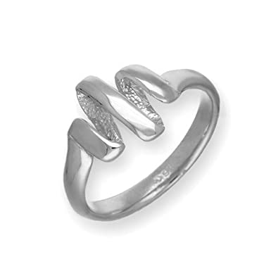 Sterling Silver Traditional Scottish Twist and Shout 3D Design Ring