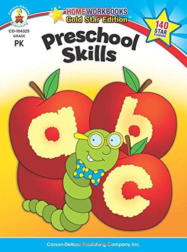 Preschool Skills  Gold Star Edition  Home Workbooks