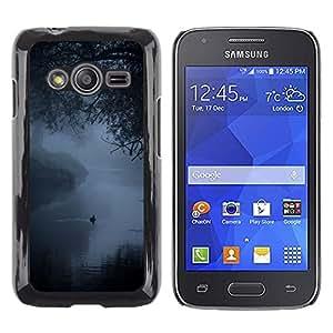 LECELL--Funda protectora / Cubierta / Piel For Samsung Galaxy Ace 4 G313 SM-G313F -- Fog Mist Lake Duck Nature Spring --