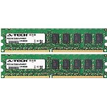 2GB KIT (2 x 1GB) For Asus PTG Series PTGV-LM (ECC Unbuffered). DIMM DDR2 ECC Unbuffered PC2-5300 667MHz Dual Rank RAM Memory. Genuine A-Tech Brand.