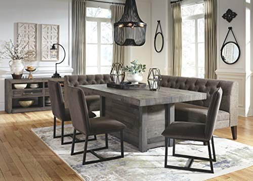 Signature Design by Ashley Tripton Bench, Graphite Extended Dining