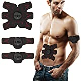 BestJill Abdominal Muscle Toner - Abs Abdominal Toning Belt & Portable EMS Abdominal Body Muscle Fitness Trainer Gear for Abdomen/Arm/Leg Men Women