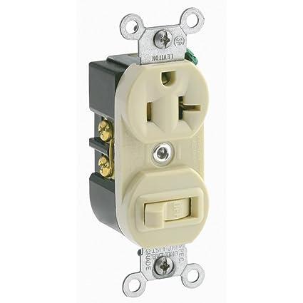 Leviton 5335 20 Amp, 120 Volt, Duplex Style Combination Single Pole