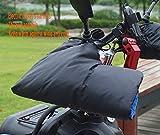 TAOMZ Cotton Motorbike Handlebar Winter Thermal Windproof Waterproof Motorcycle Gloves (Color : Black, Size : 32x23x26CM)