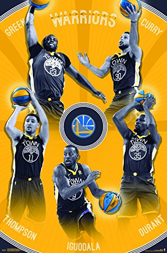 Trends International Golden State Warriors-Team Wall Poster, 22.375