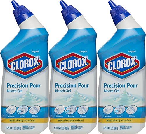 Clorox Precision Pour Bleach Gel, Original Scent, 24 Ounces,