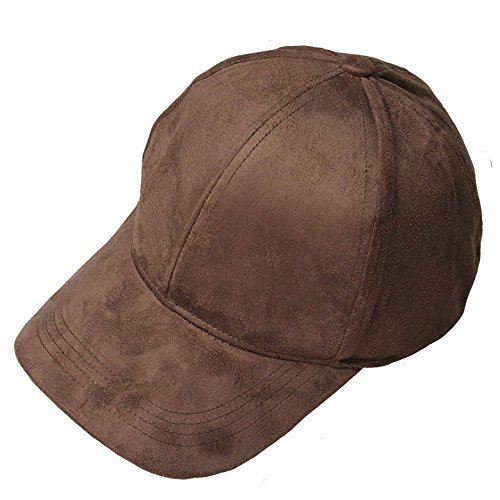 VANCOL Soft Faux Leather Suede Hat Baseball Cap (Brown)](Womens Brown Baseball Caps)