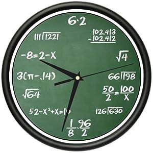 Amazon Com Math Class Wall Clock Mathematics Teacher