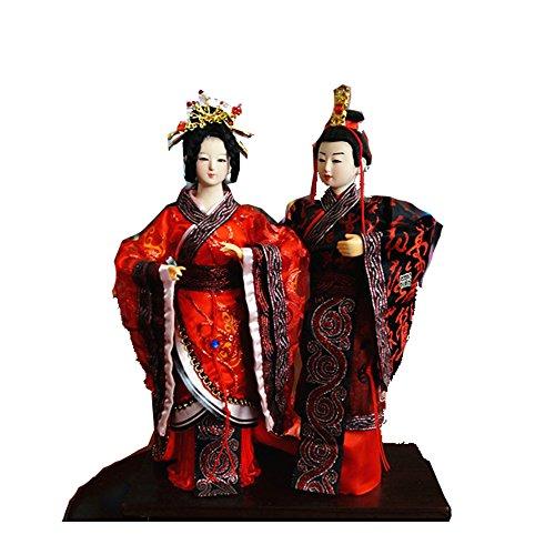 32cm Handmade Vintage Chinese Asian Doll firgurine Bride and Bridegroom Wedding Marriage Anniversary Gift-02 Vintage Bride Doll