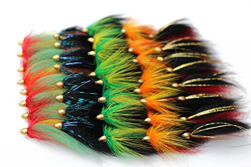 40 pcs/lot Cone Head Tube Fly 5 Assorted Colors Popular Streamer Fly Salmon Trout Steelhead Fly Fishing Flies Lures Set