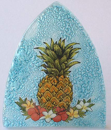 Night Cardinals Light Glass (Pineapple Art Glass Night Light)