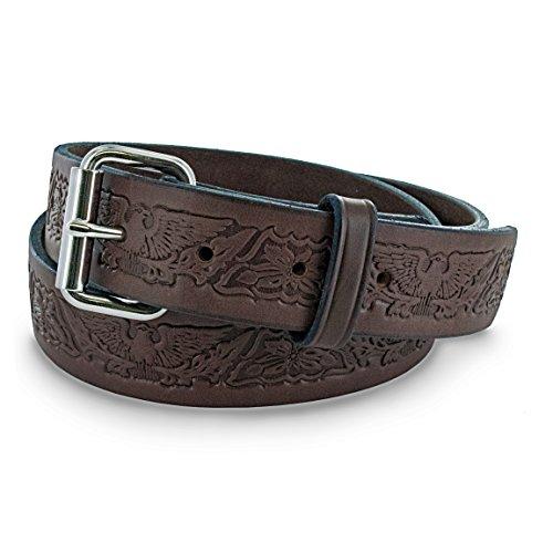Hanks A2345 Eagle Print Belt - Brown - -
