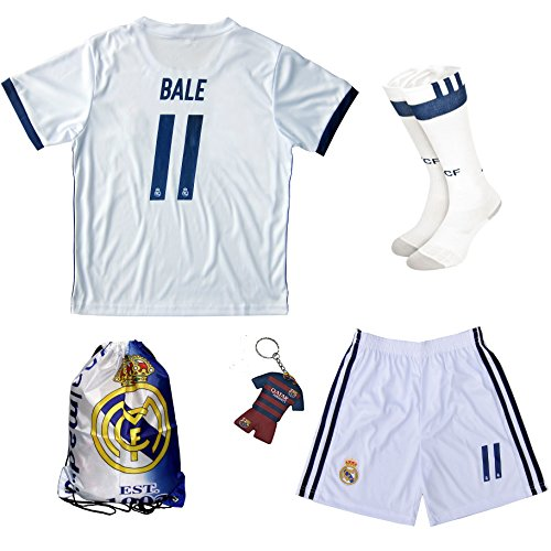 2016/2017 Real Madrid BALE #11 Home Football Soccer Kids ...