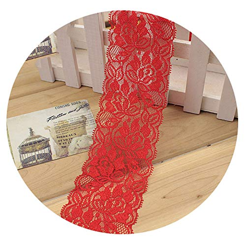 6.5Cm Soft Elastic Lace Trim Ribbon DIY Apparel Sewing & Fabric DIY Garment Accessories,Red (Best 50 Pint Dehumidifier 2019)