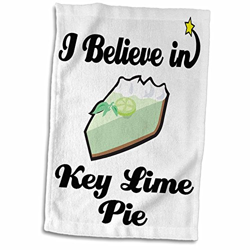 3D Rose I I Believe in Key Lime Pie Hand/Sports Towel, 15 x 22