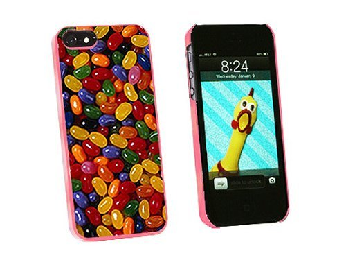 Graphics and More Jelly Beans Candy Snap-On Hard Protective Case for iPhone 5/5s - Non-Retail Packaging - Pink