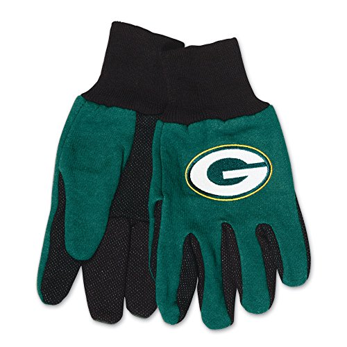 Green Bay Packers Garden (NFL Green Bay Packers Two-Tone Gloves, Green/Black)
