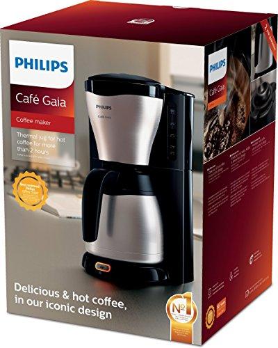 Philips HD7546/20 Gaia Filter-Kaffeemaschine mit Thermo-Kanne, schwarz/metall 6