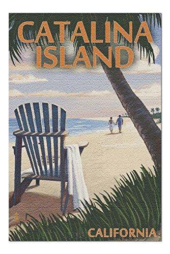 Catalina Island, California - Adirondack Chairs and Sunset (20x30 Premium 1000 Piece Jigsaw Puzzle, Made in USA!)