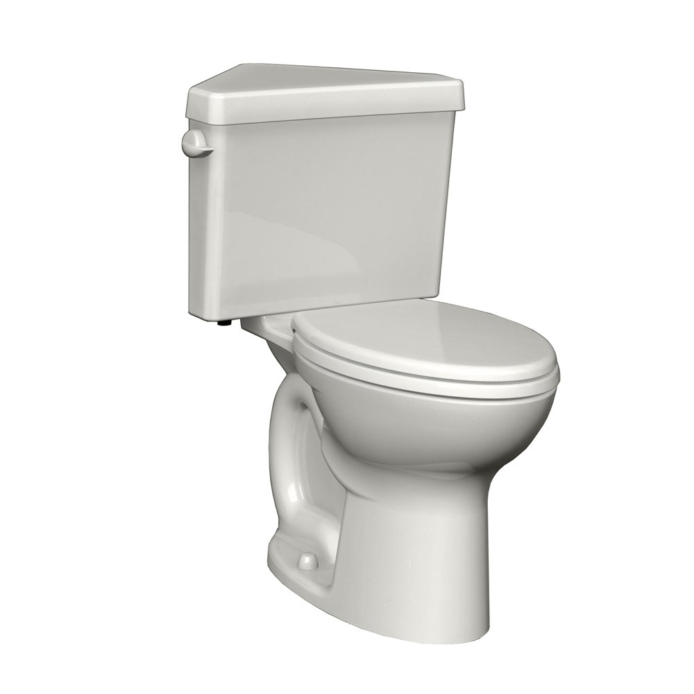 American Standard 270AD001.020 Cadet 3 Right Height Elongated Two-Piece Triangle Toilet with 12-Inch Rough-In, White by American Standard