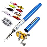 Best Compact Fishing Rod And Reels - ezyoutdoor Telescopic Pocket Pen Fishing Rod Pole,50 Meters Review