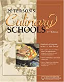 Culinary Schools, Peterson's Guides Staff, 0768924103